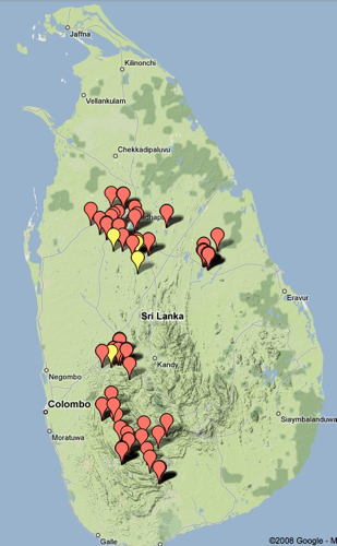 Sabaragamuwa and North Central Province elections violence